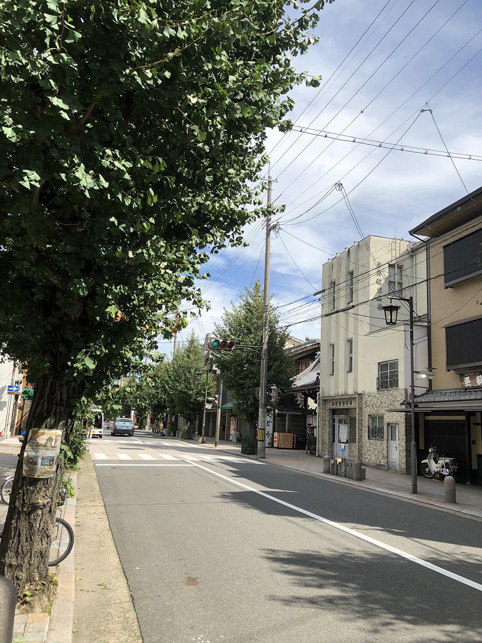 寺町通からこうどうと写真館→
