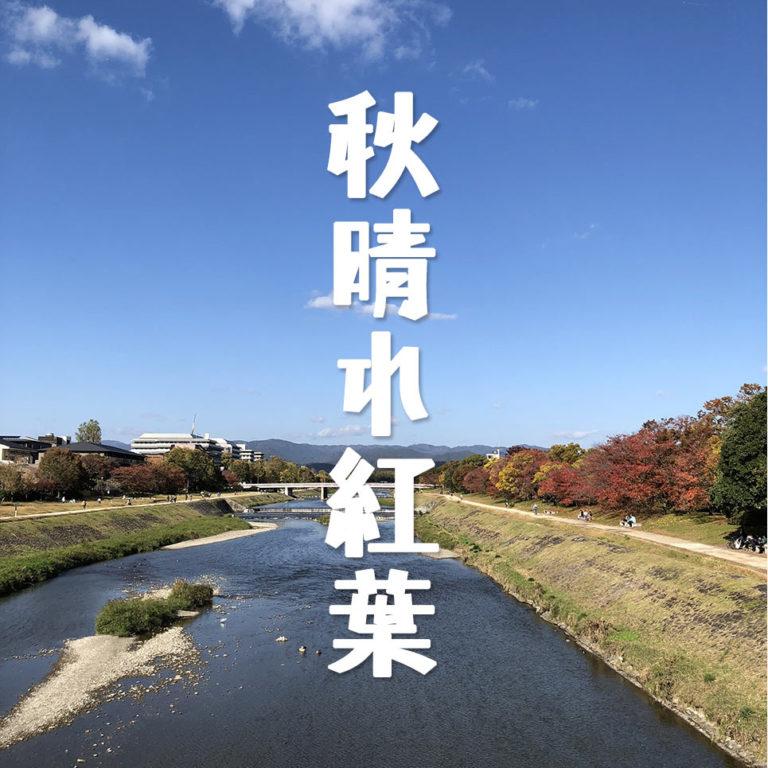 秋晴れの鴨川